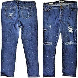 TORRID Boyfriend Distressed Destroyed Jeans 18